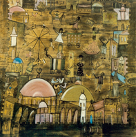 Jumana El Husseini: oil on canvas 1958